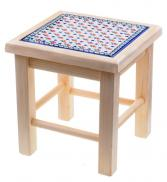 8-90 Stool with Tile H=33,5cm 32x30cm