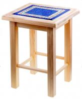 8-91 Stool with Tile H=47,5cm 35x33cm